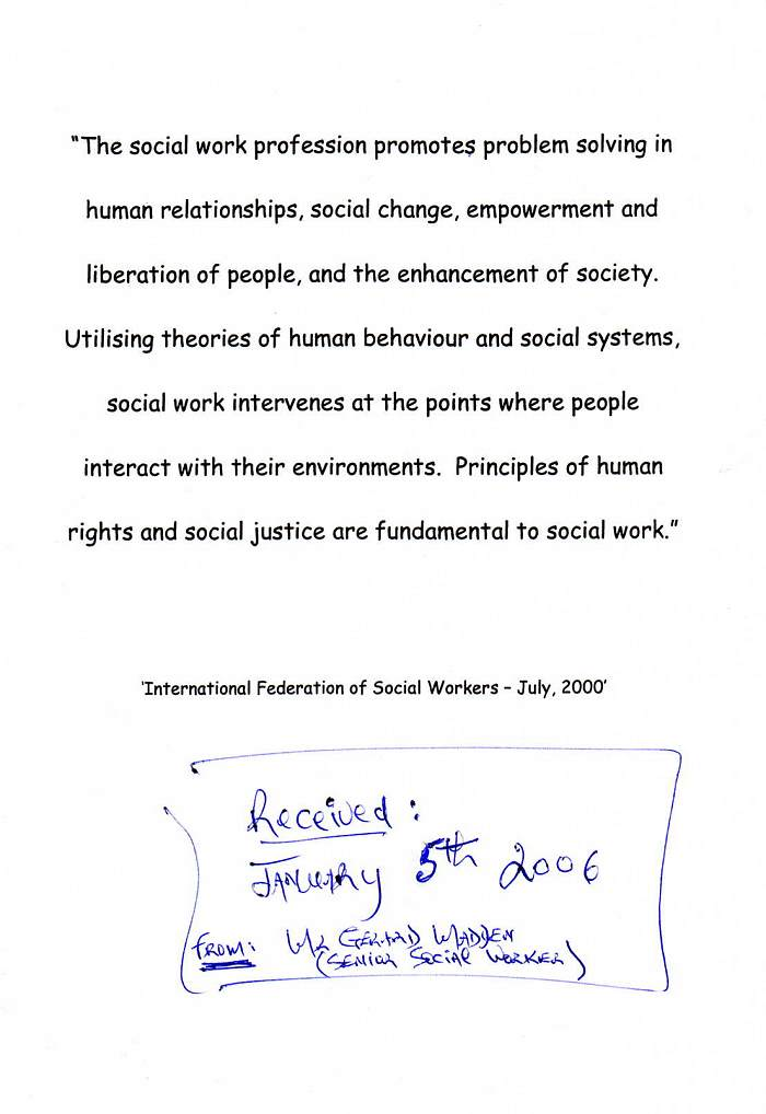 Personal statement social work